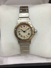 Cartier Santos Stainless Steel/18K Ladies Watch