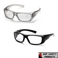 Pyramex Emerge Full Magnifying Reader Safety Glasses Gray Or Black Frames Z87