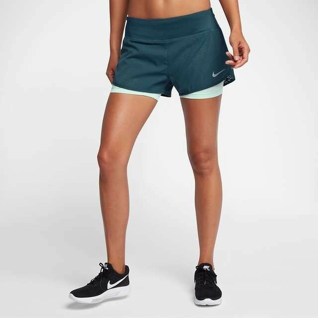 "Women's NIKE RUNNING FLEX RIVAL. 2 in 1  3""Shorts size XS 831552-425"