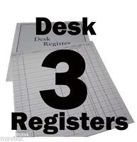 Desk Registers Fits Business And Desk Folders - Set Of 3