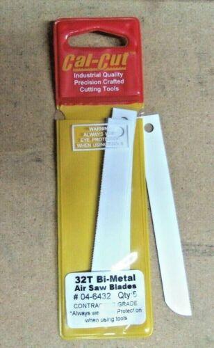 "Stiff 4/"" Air Saw Blades 32 TPI BI-Metal Pro Grade USA Fits Air Body Saws 5pk"