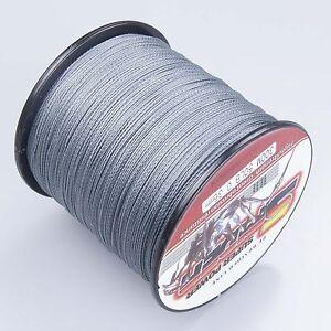 Super-Dyneema-300-1000M-30-50LB-Fishing-Braid-Carp-Line-Army-Grey-Spod-Marker
