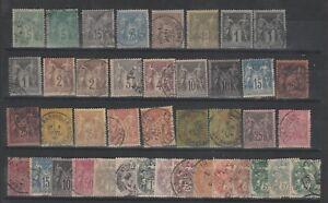 FRANCOBOLLI-1876-1900-FRANCIA-LOTTO-Z-9715