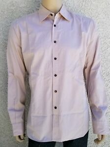 PRADA-Made-in-Italy-Beige-size-41-16-Large-Men-039-s-Long-Sleeve-Shirt