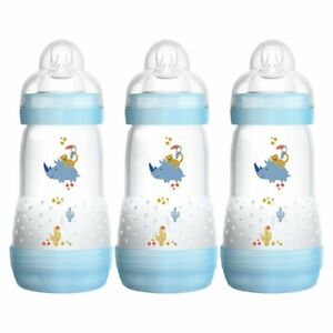 MAM-Anti-Colic-Baby-Boy-039-s-Bottle-260ml-3-Pack-Warehouse-Clearance