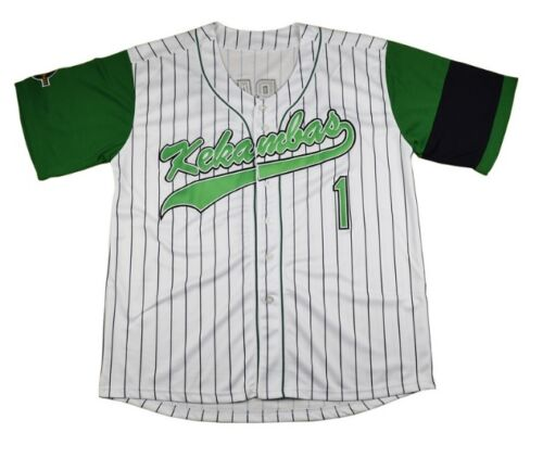 Jarius G-Baby Evans Baseball Jersey Stitched Buttons Short Sleeve New White