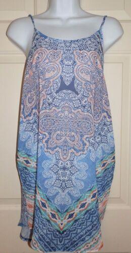 New Juniors XLarge 15//17 Op Cover-Up Blue Lightweight Woven Polyester