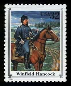 #2975n 32c Winfield Hancock, Nuevo Cualquier 5=