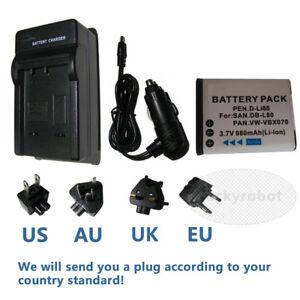 db l80 dbl80 battery charger for sanyo xacti dmx cg11 vpc cg10 vpc rh ebay com
