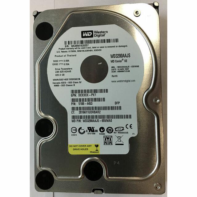 Western Digital 320GB, 7200RPM, SATA - WD3200AAJS-65VWA0