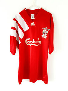 Liverpool Home Shirt 1992. Large. Original Adidas. Red Adults Football Top Only.