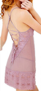 Light Plum Sexy Lace Nightie Set Lingerie and Thong/Free Shipping