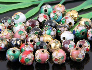 100Pcs Mixed Cloisonne Round Spacer Beads 6???mm