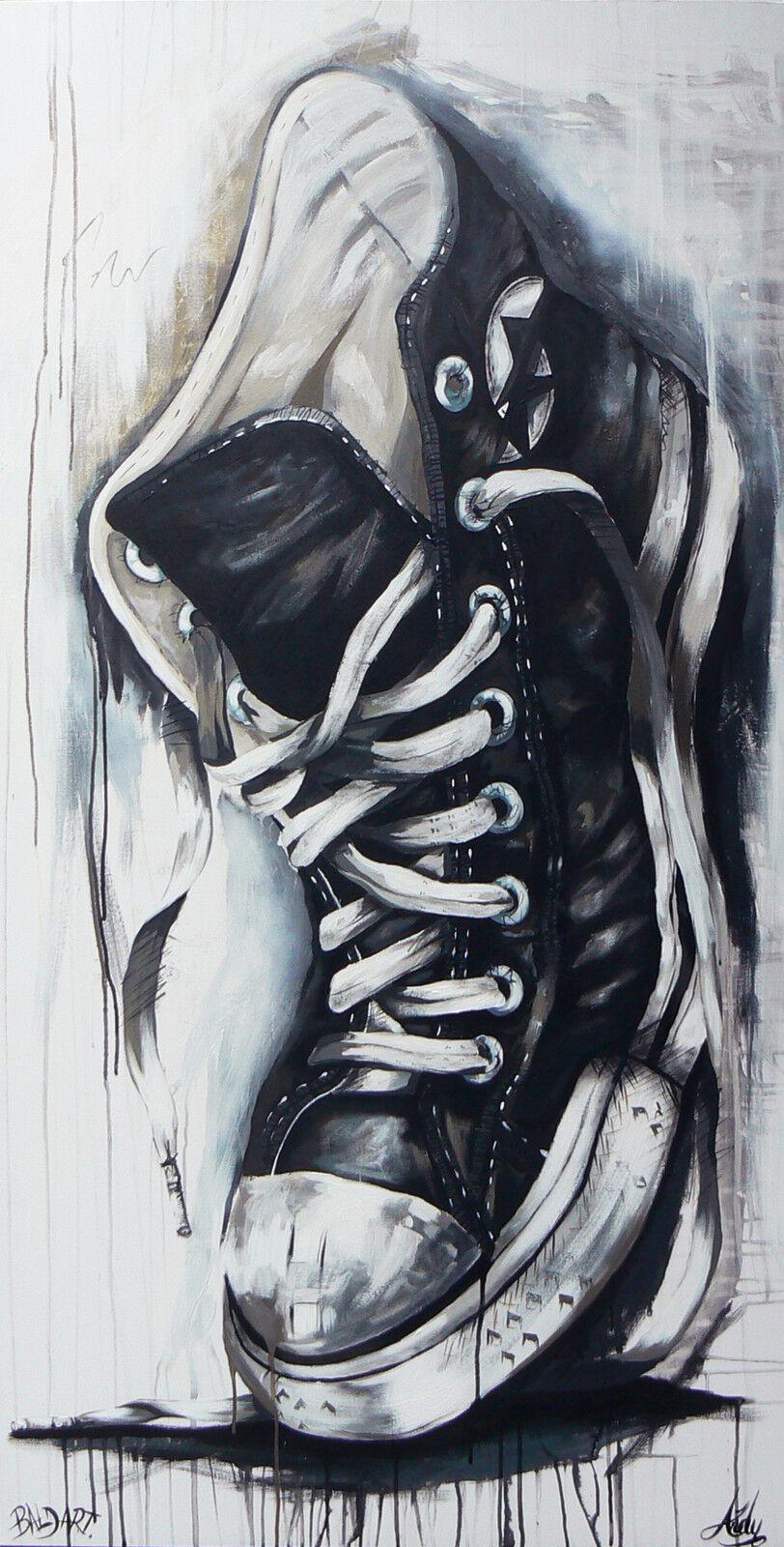 STREET ART GRAFITTI  australia abstract ANDY BAKER canvas