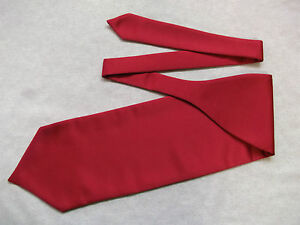 100% Vrai Ascot Cravat Mens Wedding Scrunchie Ruche One Size Red Wine