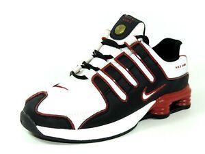 Nike-Shox-NZ-SL-PS-310591-111-Boys-Shoes-Running-White-Varsity-Leather-Mesh-Rare
