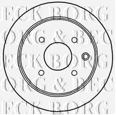 Arrière Disques De Frein Paire Pour Nissan GENUINE OE Borg /& Beck BBD5170