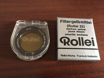 Orange Filter Lens BNIB 1,5 1.5 Black /& White R00 Rare Rollei 35 Bay 00