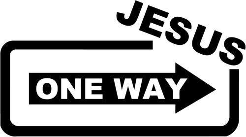 Jesus One Way Home Decor Car Truck Window Decal Sticker