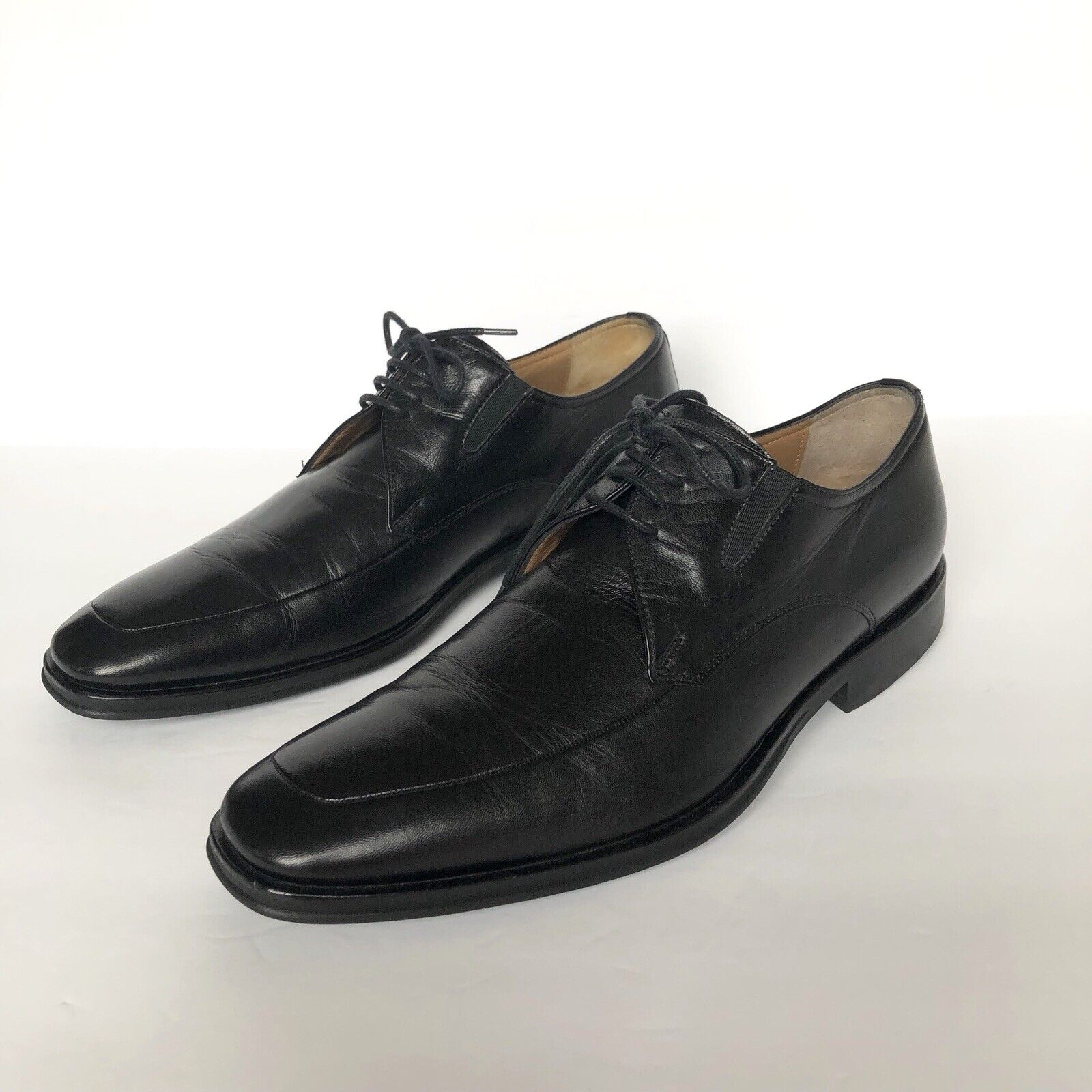 Bcouriro Magli Ranuncolo Noir en Cuir à Lacets Chaussures Homme Taille 8.5 M