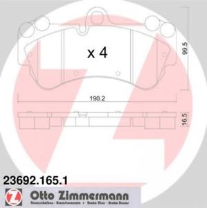 Bremsbelagsatz Scheibenbremse Vorderachse ZIMMERMANN 23692.165.1