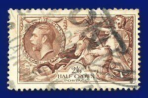 1934-SG450-2s6d-Chocolate-Brown-N73-1-Good-Used-London-CV-FU-40-arnw