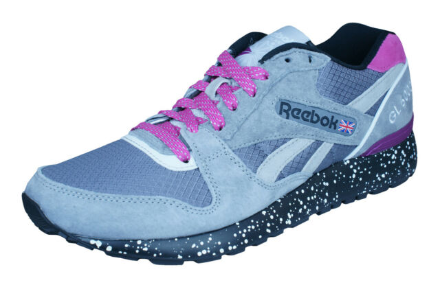 innovative design 25905 fff9b Reebok Classic GL 6000 Trail Mens Sneakers Casual Retro Sports Shoes Gray  Pink