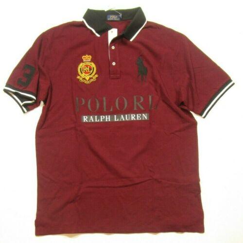 Lauren Big Polo de Ralph Pony Tall hombre camisa Crest rojo burdeos malla para FRxwp5Sxq