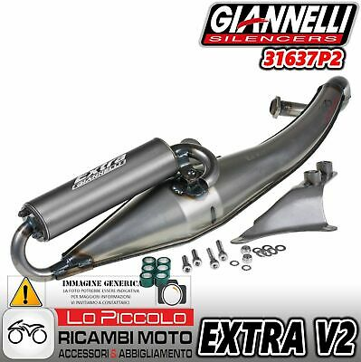 MARMITTA GIANNELLI EXTRA V2 PIAGGIO ZIP KAT SP NTT NRG MC2 MC3 POWER TYPHOON