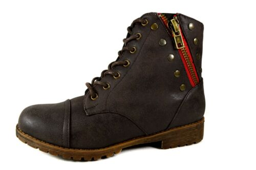 Damen Herbst Boots Stiefeletten Mädchen Frühling Stiefel Gr.36-41 A.-05 Braun