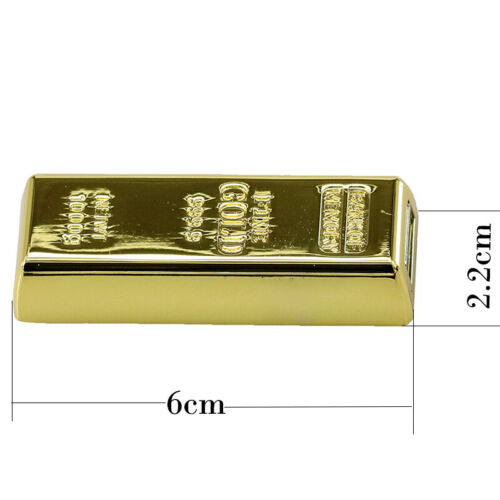 Gold Bar Pendrive 64GB 128GB 256GB 512GB Portable Flash Memory Stick Drives