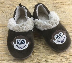 Monkey Soft Brown Slip On House Shoes