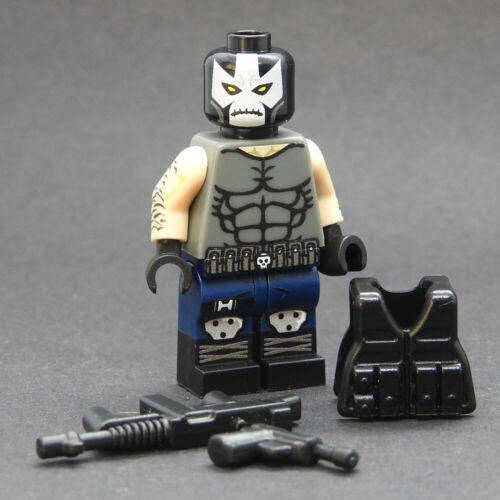Custom Modern Comic Crossbones Marvel minifigures on lego brand bricks