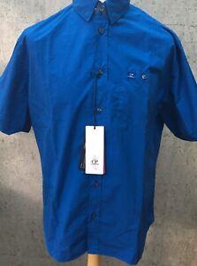 C-P-Company-a-manches-courtes-popeline-bleu-849-shirt-rare-neuf-avec-etiquettes