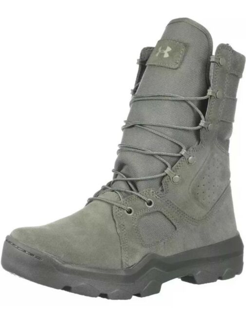 44c941ca679  155 Under Armour FNP Zip Tactical Men s Size 10 Boots Sage Green  1296240-385