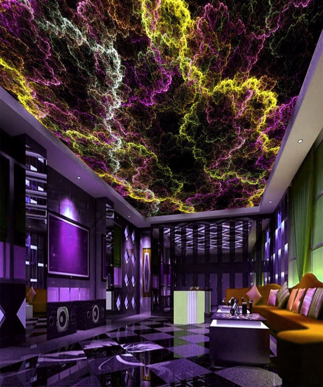 3D Art Farbe 753 Ceiling WallPaper Murals Wall Print Decal Deco AJ WALLPAPER GB