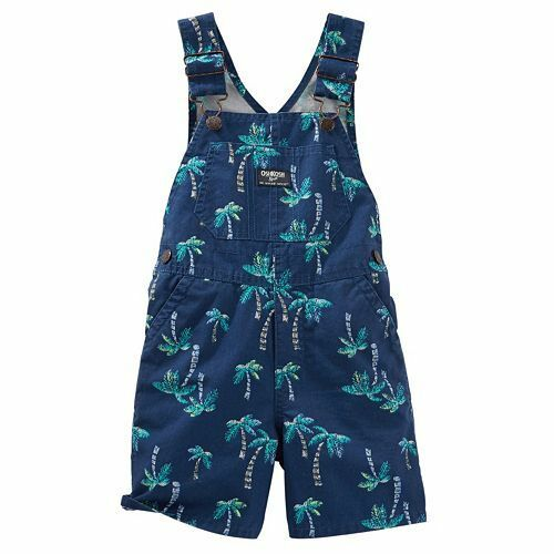 NWT Infant Boy OSHKOSH B/'Gosh Shortalls Overall Shorts Sizes  6 9 12 18 24 Mo