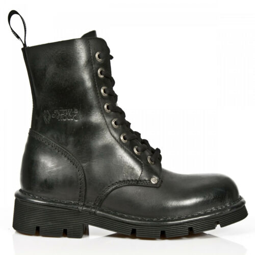 Gothic Unisex Eyelet M Black newmili084 Rock Shoes Boots s1 8 Military New pnSqwCaxXn