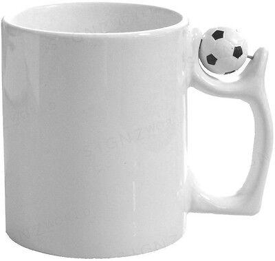 11oz White Coated Sublimation Football Mugs -For Sublimation Printing Heat Press
