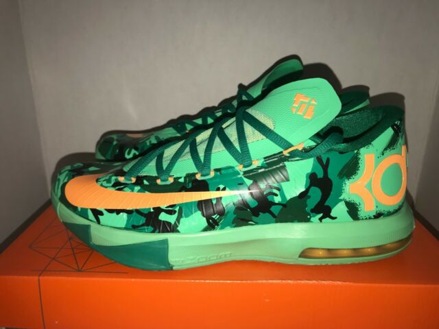 0b92a1887963 Nike KD VI 6 Mens Easter Basketball Lucid Green Atomic Mango 599424-303 Sz  11