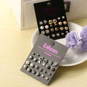 12Pairs-Fashion-Triangle-Pearl-Crystal-Heart-Ear-Stud-Women-Earring-Set-Jewelry