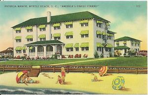 Image Is Loading Patricia Manor Myrtle Beach Sc Postcard