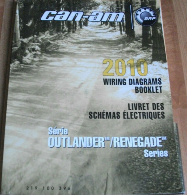 2010 Can  Renegade Wiring Diagrams Booklet