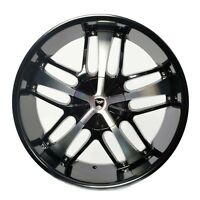 4 Gwg Wheels 20 Inch Black Machined Savanti Rims Fit Et35 Honda Civic Si 2006-15