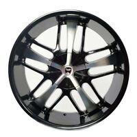 4 Gwg Wheels 18 Inch Black Machined Savanti Rims Fits Et40 Ford Freestyle 2005