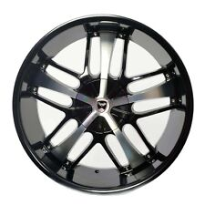 4 GWG Wheels 24 inch Black Machined SAVANTI Rims fits CHRYSLER 300C 2005 - 2017