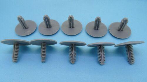 10x 7 mm plastic Push Clips Gray Rivets Fastener Trim Panel Mitsubishi
