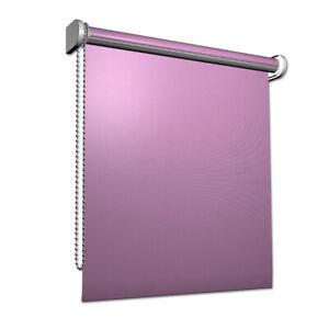 Fenster-Rollo-Fensterrollo-Verdunklungsrollo-Seitenzugrollo-80x230cm-Pink-Rosa