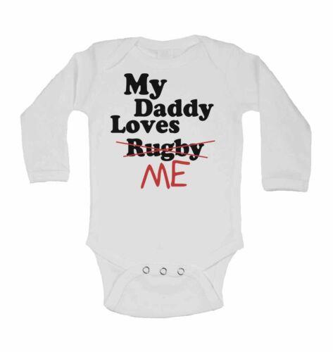 Lustig Personalisiert Langärmlig Baby Weste My Daddy Liebt Mich not Rugby