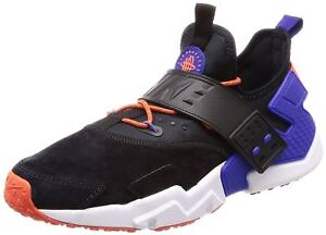 15b2fb2ae9b8 Nike AIR HUARACHE DRIFT Premium Men s Black Rush Violet Rush Orange ...
